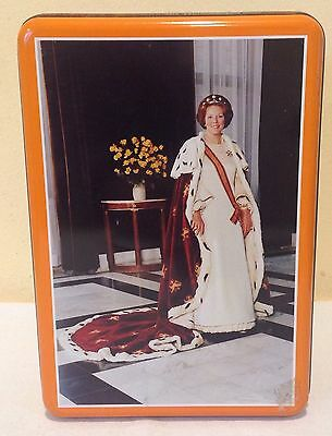 Queen Beatrix Of Holland Collectible Tin