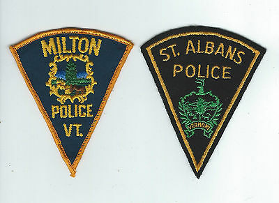 TWO VINTAGE VERMONT POLICE DEPT (GROUP #1) patches