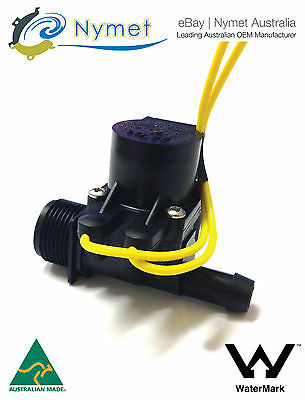 """Micro Irrigation Solenoid Valve 3/4""""BSP in - 13mm Barb out 24VAC 20LPM"""