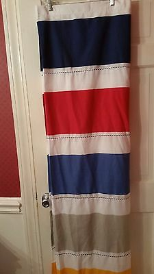 Pillowfort Shower Curtain Navy Gold Red Tan Blue Polyester Cotton 70x72 New