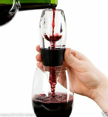 AU Magic Decanter Essential RED Wine Aerator and Sediment Filter with Gift Box