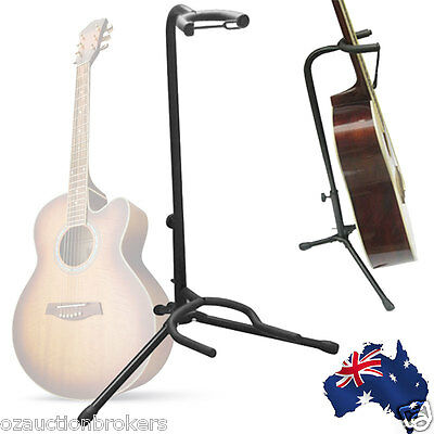 AU Ship Pro Guitar Electric Bass Stand Folding Tripod Floor Rack Stage Holder