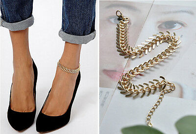 Women Gold Barefoot Coin Ankle Chain Anklet Bracelet Foot Jewelry Sandal Beach #