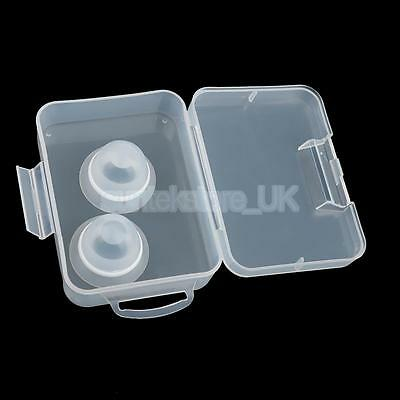 1 Pair Soft Silicone Nipple Shield Protector Breast Shells with Case