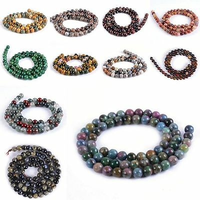 6mm Round ball loose multi-gemstone diy jewelry making beads strand 16""