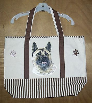 AKITA - 100% Cotton Canvas, heavy duty, X-Large TOTE BAG