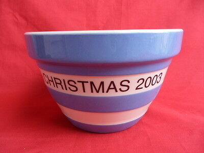 TG Green Cornishware (Blue) Special Edition Christmas 2003 Basin