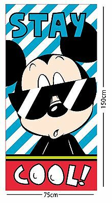 EXTRA LARGE - New Mickey Mouse Shades Design Beach Bath Towel Boys Kids Swimming