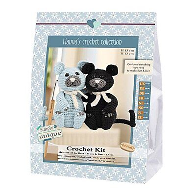 Go Handmade Burt & Bart The Kittens 13cm Crochet Needlework Kit, All Parts Inc!
