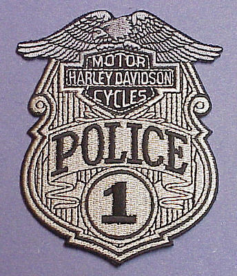Harley Davidson Motor Cycles  #1  Police Patch  Free Shipping!!!
