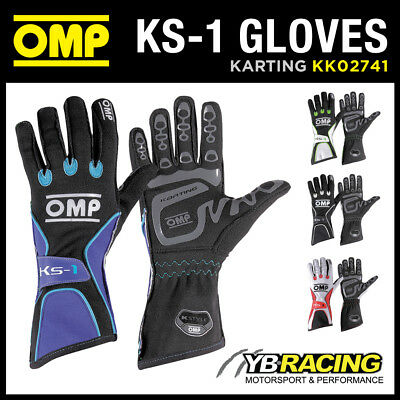 Sale! Kk02741 Omp Ks-1 Ks1 Professional Kart Karting Gloves 4 Colours & 6 Sizes