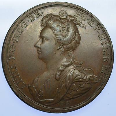 Queen Anne 1706 Battle of Ramillies medal by Croker