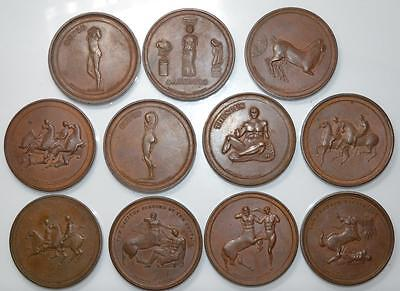 England - 1821 Elgin marbles bronze medals complete set 47 medals by Thomason