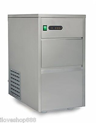 Commercial Ice Maker Machine Stainless Steel Automatic Restaurant Fast Quiet New