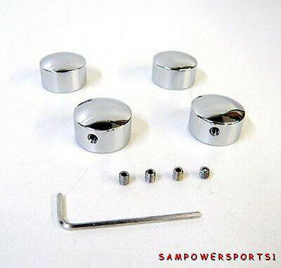 Chrome Smooth Head Bolt Covers For Harley Evo Bigtwin Sportster Twin Cam L85-14