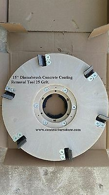 "Diamabrush  15"" Concrete Coating Removal Tool 25 grit"