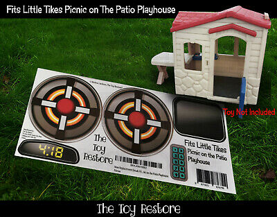 Replacement Decals Sticker fits Little Tikes Picnic On the Patio Playhouse Cubby
