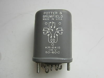 PB Potter Brumfield KR 6415 115V 11 Pin p&b potter & brumfield khx17a11 120v 14 pin relay, new $16 95  at gsmx.co