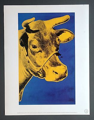 Andy Warhol Foundation Limited Edition Offset Lithography 31x40 Cow 1971 Pop Art