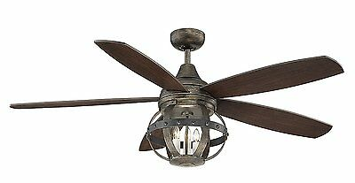 Savoy House 52-840-5CN-196 Alsace 52 inch Ceiling Fan with Reclaimed Wood Finish
