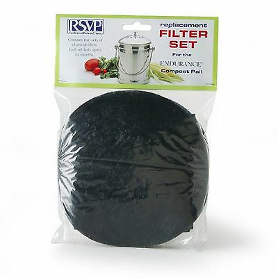 RSVP 2 Replacement Filters Jumbo Compost Pail/Keeper/Bucket (Pail-Xl) FLTR-XL