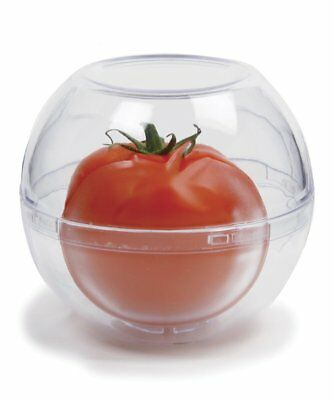 """Norpro New Fruit Vegetable Keeper Container Stackable Clear Plastic 4""""/10cm"""