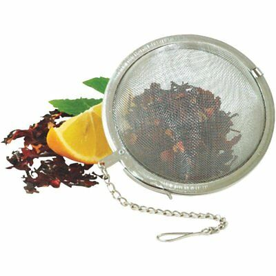 """Norpro Stainless Steel Loose Mesh Ball Tea Infuser 3"""" Sturdy Clip Chain W Hook"""