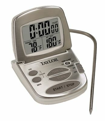 Taylor New Digital Cooking Thermometer Probe Kitchen Timer Easy To Read 1478-21