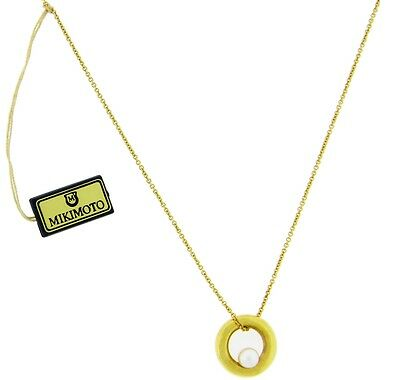 Mikimoto white pearl Women's necklace in 18k yellow gold