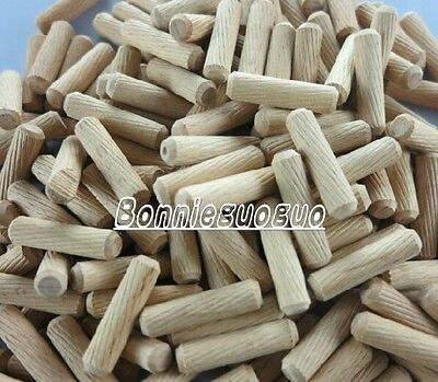 30*8mm grooved fluted wooden dowel pin 100, 250, 500, 1000, wood pieces