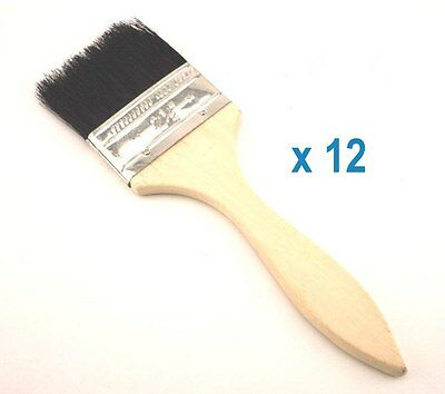 """Pack of 12 PC X Disposable 2.5"""" Paint Brush wood handle"""