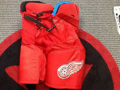 RARE NHL Pro Stock Game used Bauer hockey Pants Detroit Red Wings Stadium Series