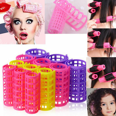 TICA 12 PCS Curler Roller Large Grip Cling Hair Styling Curler Hairdressing Tool
