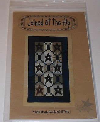 Joined At The Hip #120 Architectural Stars Quilt Pattern and Instructions 1999