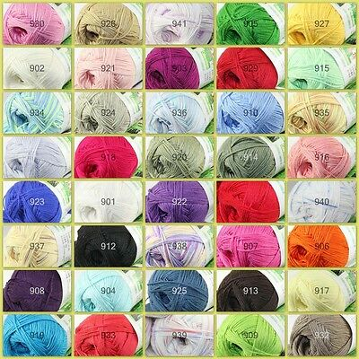 Sale New 1 Ball x 50g Super Soft Bamboo Cotton Baby Hand Knitting Crochet Yarn A