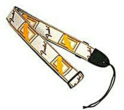 "NEW Fender 2"" Monogrammed Guitar Strap, WHITE/BROWN/YELLOW, #099-0683-000"