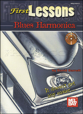 First Lessons Blues Harmonica Method Tutor Book with CD Learn How To Play