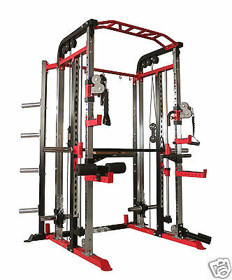 Smith Machine Power Rack Functional Trainer Cable Cross Free Shiping