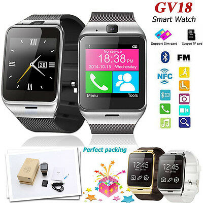 GV18 Bluetooth Waterproof GSM NFC Camera Smart Watch For Android Iphone Samsung