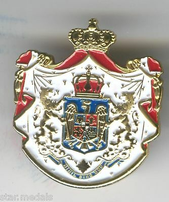 Romanian royal coat of arms superb badge, amazing medal, very beautiful