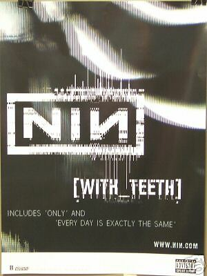 Nine Inch Nails - Trent Reznor - WITH TEETH Promo Poster #2 - VG++
