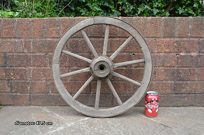 Vintage old wooden cart wagon wheel  / 47.5 cm FREE DELIVERY