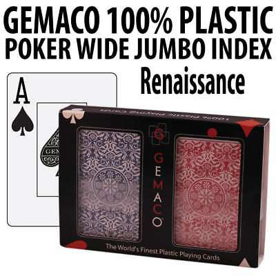 Gemaco Plastic Playing Cards Renaissance Poker Wide Size Jumbo index