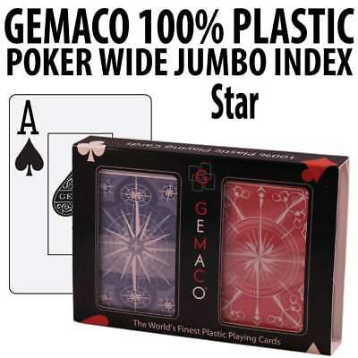Gemaco Plastic Playing Cards Star Poker Wide Jumbo index