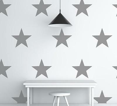 GREY STARS Wall Stickers Art Kit decal graphic nursery cute two sizes options