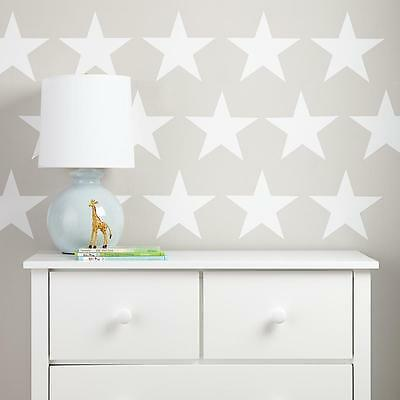 WHITE STARS Wall Stickers Kit Art decal graphic nursery cute two sizes options