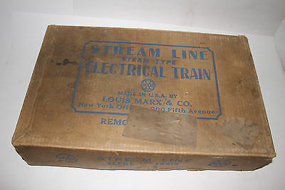 1950's Marx Steam Type Electric Train Set #???? with Box