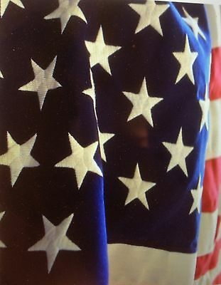 NEW 100% COTTON BUNTING EMBROIDERED 50 STARS HUGE 5x9' AMERICAN FLAG MADE IN USA