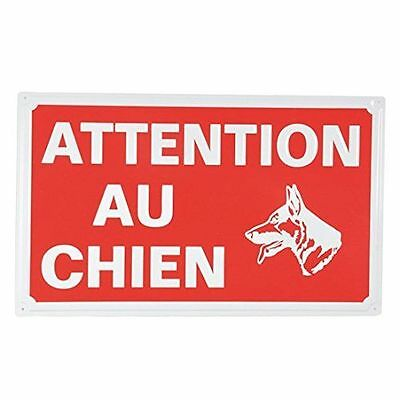 Ami Confort 6ANI643 Plaque attention au chien 33 x 20 cm [Rouge]  NEUF