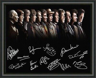 Doctor Who- All Doctors - A4 Signed Autographed Photo Poster Free Post